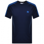 Adidas Originals BLC 3 Stripes T Shirt Navy